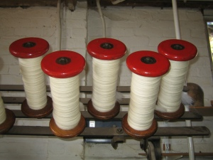 Knitwit Originals limited edition yarn being spun