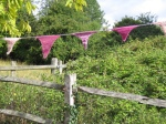 Knitted and crocheted bunting